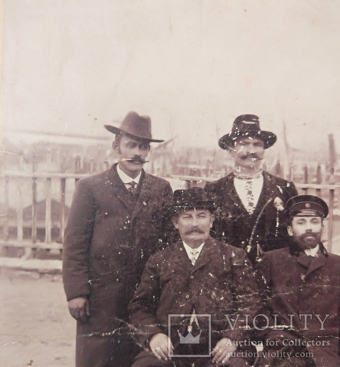 1916,Одесса, Группа инженеров на фоне порта, фото №3