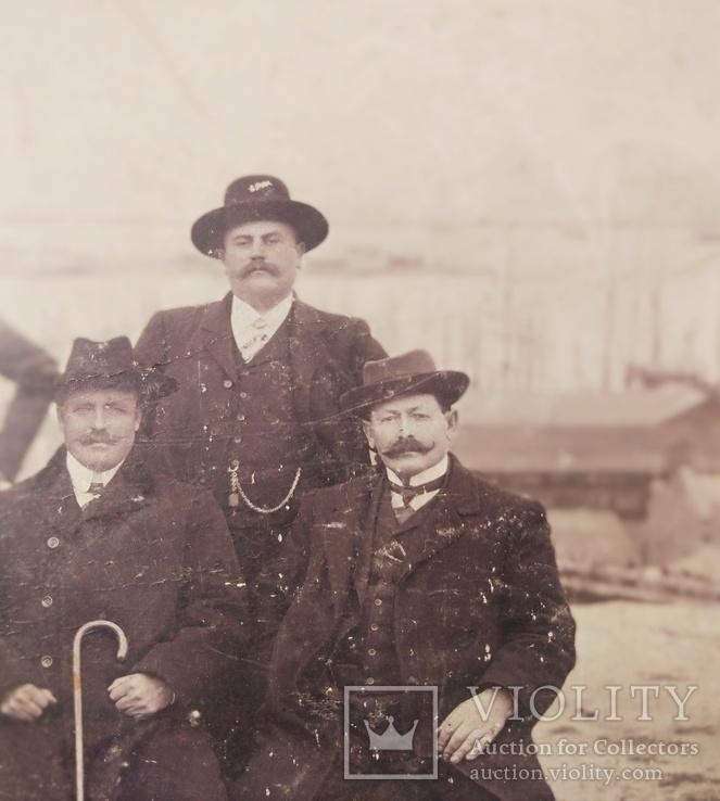 1916,Одесса, Группа инженеров на фоне порта, фото №6