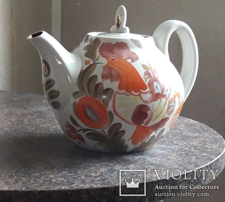 Большой фарфоровый чайник., фото №2