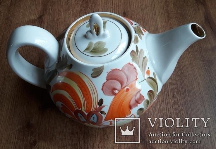 Большой фарфоровый чайник., фото №3