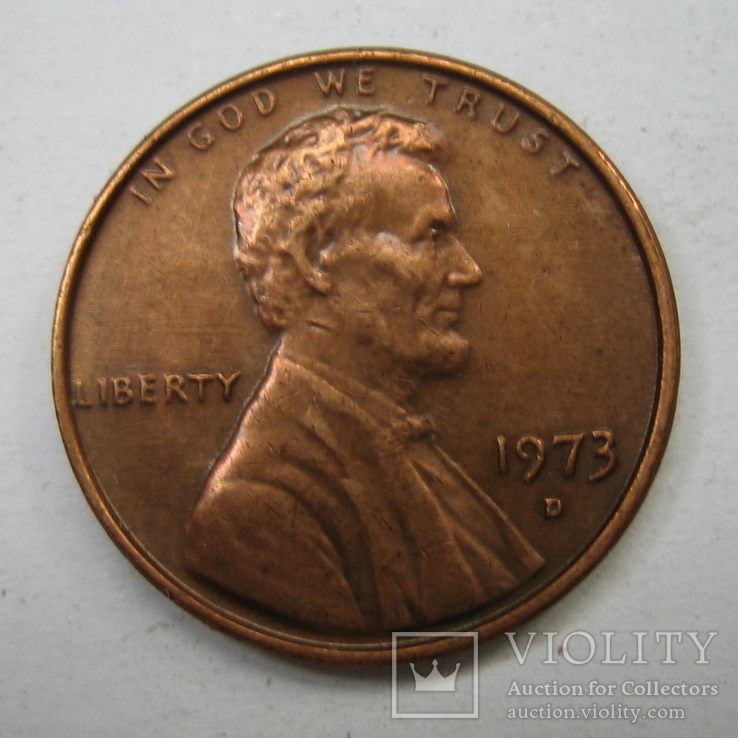 США 1 цент 1973 года.D., фото №4