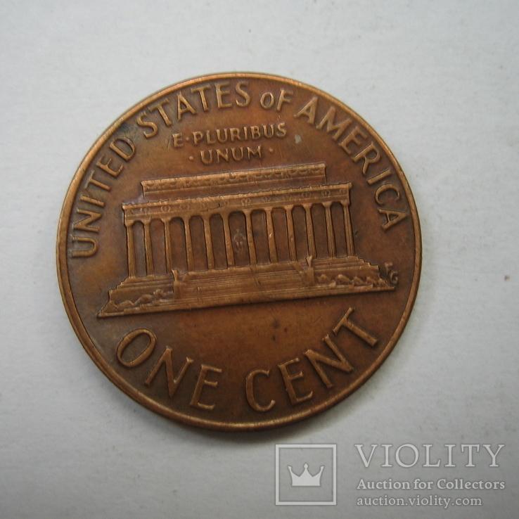США 1 цент 1973 года.D., фото №7