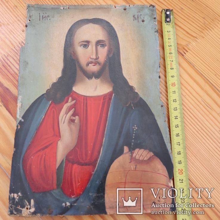 Икона Иисуса (писаная), фото №8