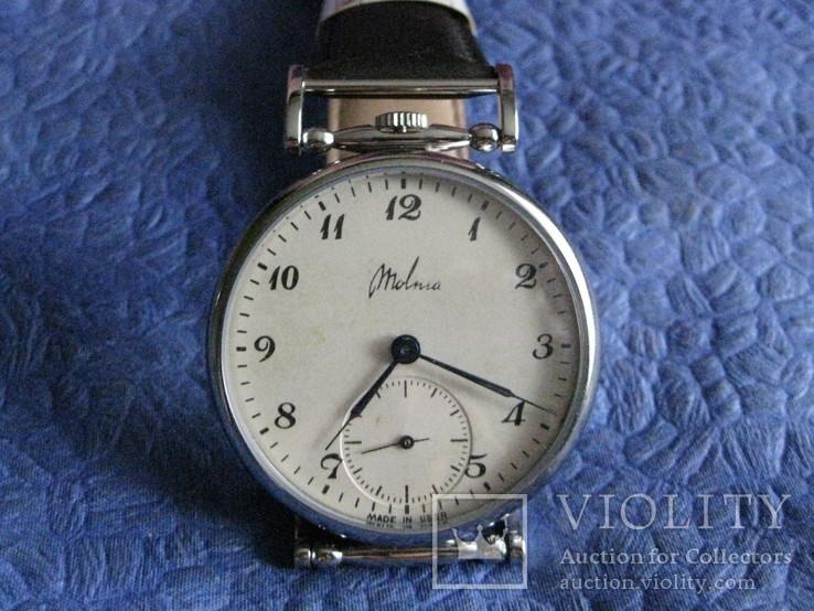 Часы Молния 3602 Классический циферблат.Рабочие на ремешке, фото №2