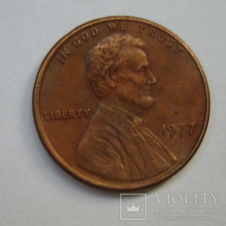 США 1 цент 1977 года., фото №4