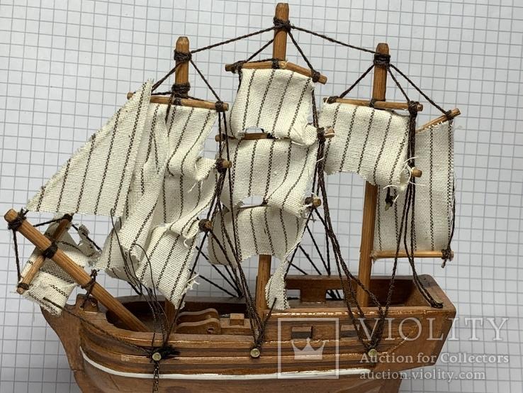 Винтажная деревянная модель корабля с Англии  H.M.S. Bounty, фото №4