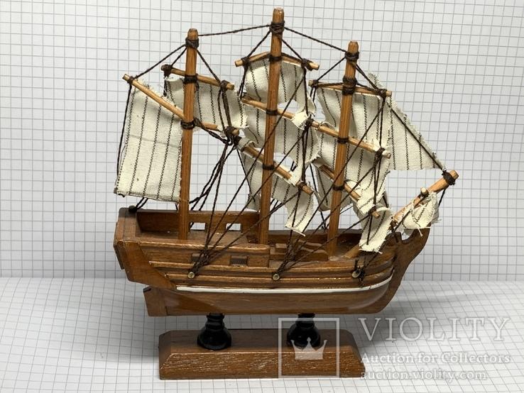 Винтажная деревянная модель корабля с Англии  H.M.S. Bounty, фото №5