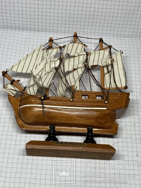 Винтажная деревянная модель корабля с Англии  H.M.S. Bounty, фото №7