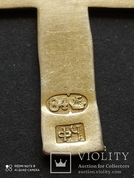 Серебряный Крест с Эмалями. 84 Проба., фото №4