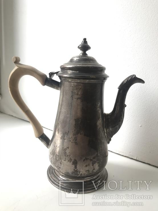 Серебряный чайник Sterling 405 грамм.