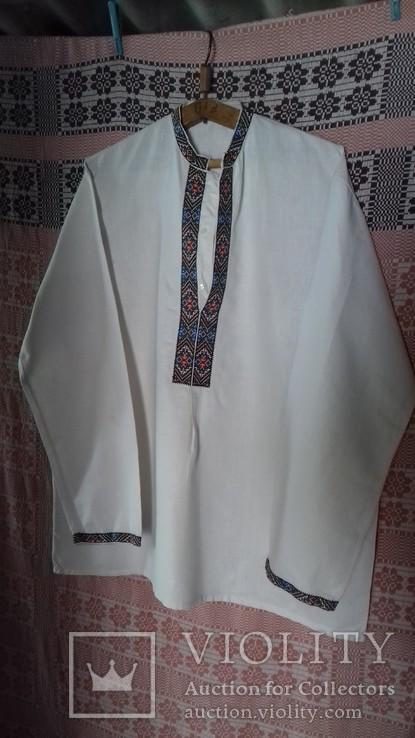 Мужская рубашка- вышиванка, ручная работа. УССР., фото №2