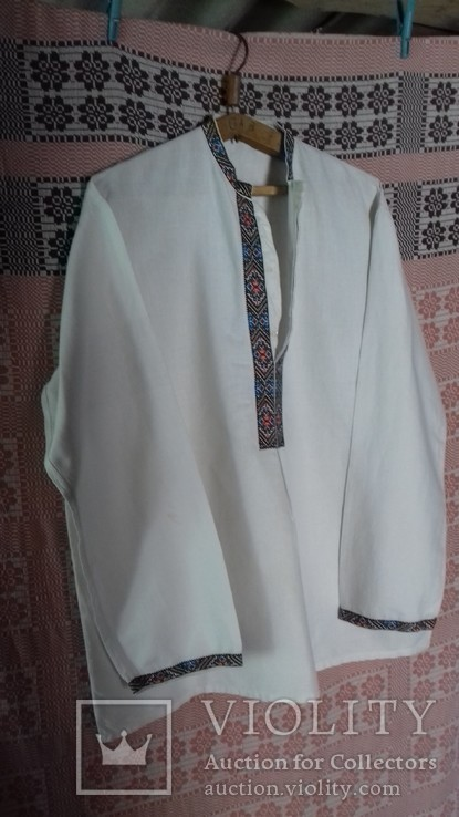 Мужская рубашка- вышиванка, ручная работа. УССР., фото №3