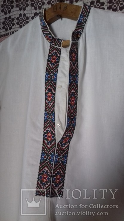Мужская рубашка- вышиванка, ручная работа. УССР., фото №5