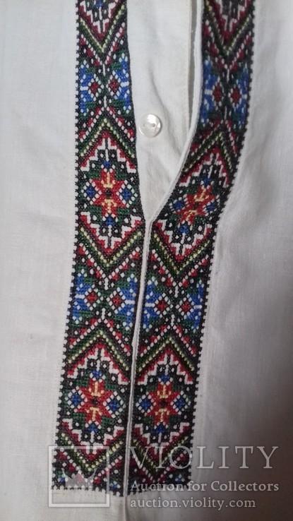 Мужская рубашка- вышиванка, ручная работа. УССР., фото №6