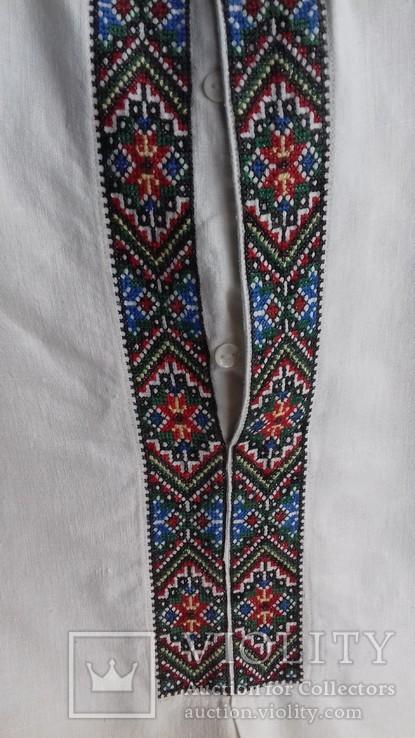 Мужская рубашка- вышиванка, ручная работа. УССР., фото №7