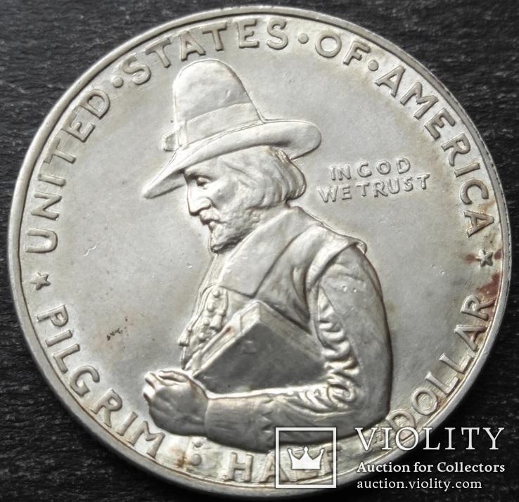 США , 1/2 доллара ( 50 центов ) 1920 г., '300 лет прибытию Отцов-пилигримов'
