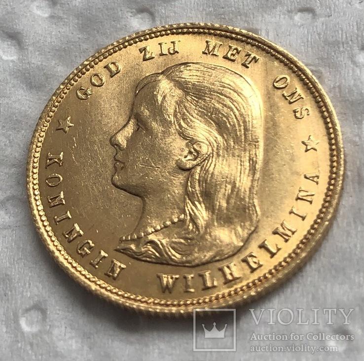 10 гульденов 1897 год Нидерланды золото 6,72 грамм 900'