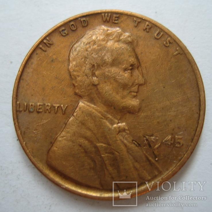 США 1 цент 1945 года., фото №3