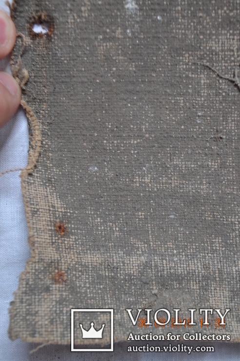 """Икона """"Господь Саваоф"""", """"Бог Отец"""". Часть с иконы на ткани. Размер: 36(36,5)x24(24,5) см., фото №11"""