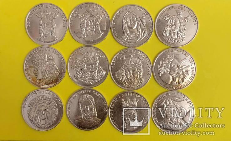 Лот церковних жетонів Срібло 925 проба. 46,75 грам., фото №2