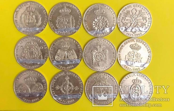 Лот церковних жетонів Срібло 925 проба. 46,75 грам., фото №3