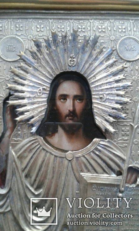Икона Иисуса Христа в ознаменование отмены крепостного права,1861 г., фото №5