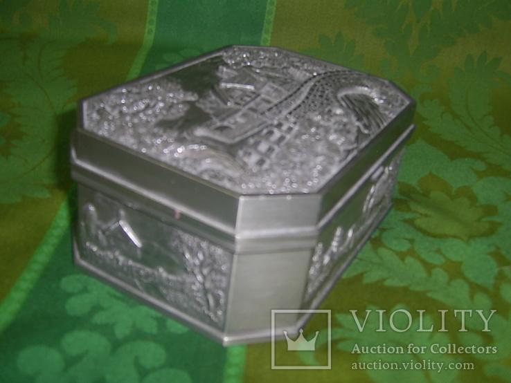 Шкатулка пейзажная из тяжёлого металла Европа, фото №4