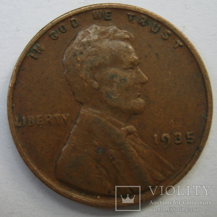 США 1 цент 1935 года., фото №2