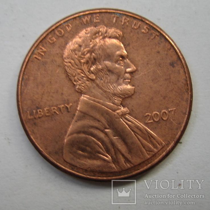 США 1 цент 2007 года., фото №2