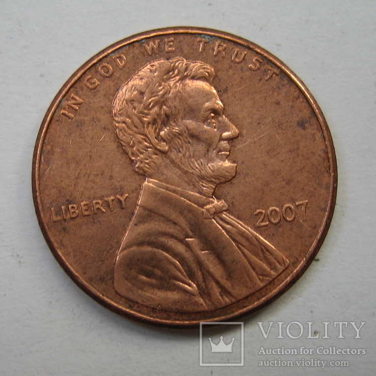 США 1 цент 2007 года., фото №3