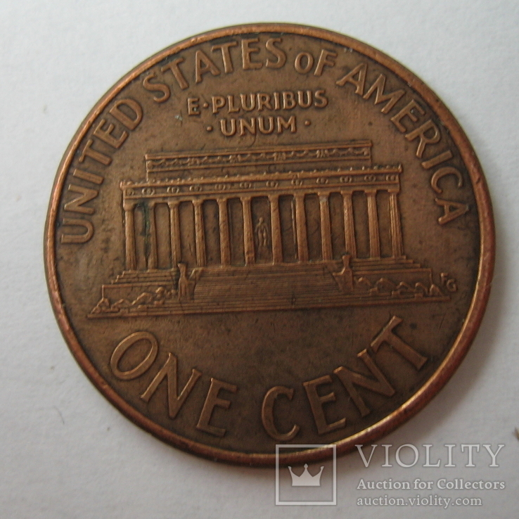США 1 цент 1996 года.D., фото №4