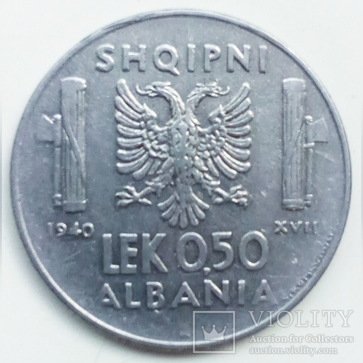 0,5 лек 1940 г. Албания, фото №2