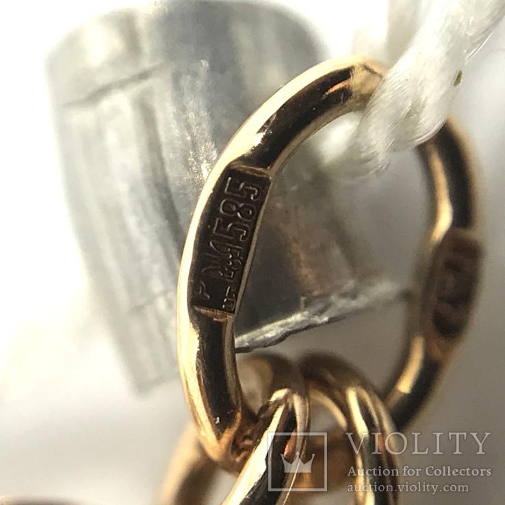 Колье золото бриллианты сапфиры, фото №8