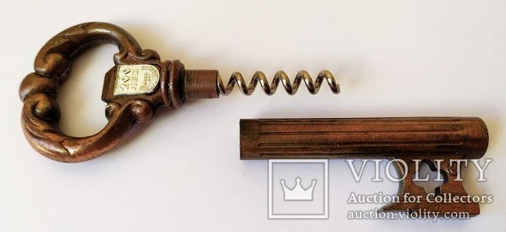 Штопор Ключ Днепропетровск 200 лет 1776-1976 Corkscrew Key Bottle Opener, фото №6