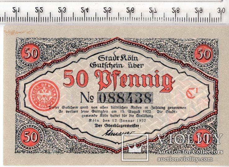 50 пфеннигов. Нотгельд. Германия. (3)., фото №3