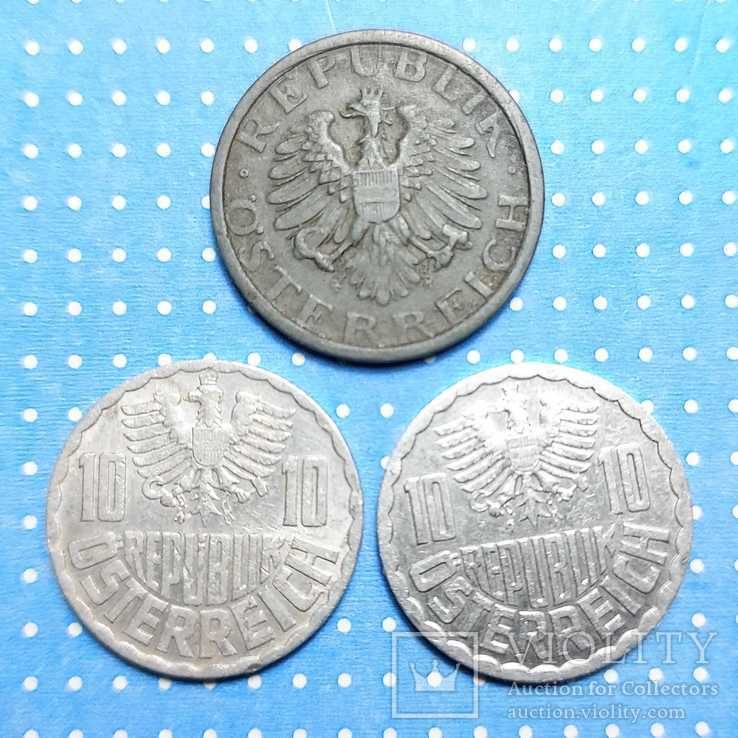 10 грошей. Австрия. 1948, 1961. 1993., фото №3