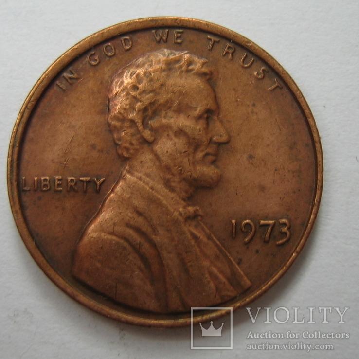 США 1 цент 1973 года., фото №2