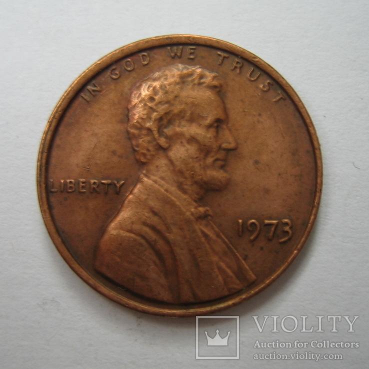США 1 цент 1973 года., фото №3