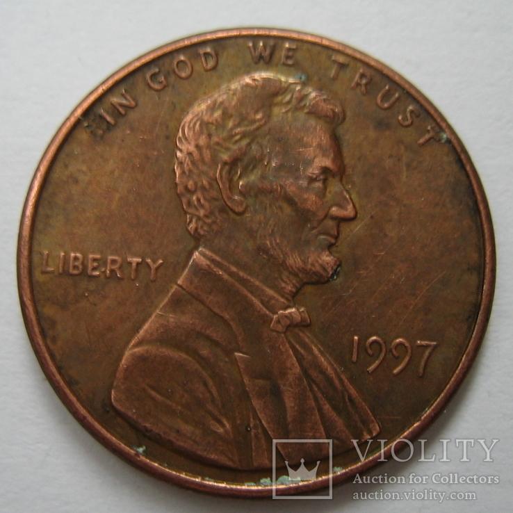 США 1 цент 1997 года., фото №2
