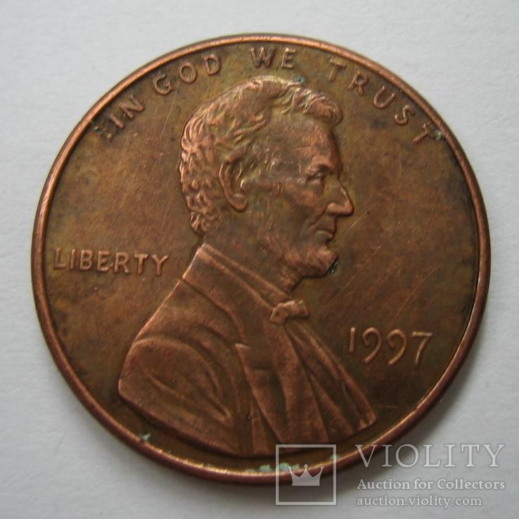 США 1 цент 1997 года., фото №4