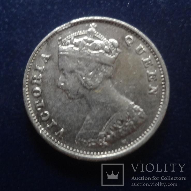 10 центов 1900 Гон Конг серебро (Г.3.41), фото №2