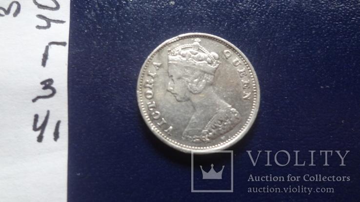 10 центов 1900 Гон Конг серебро (Г.3.41), фото №4