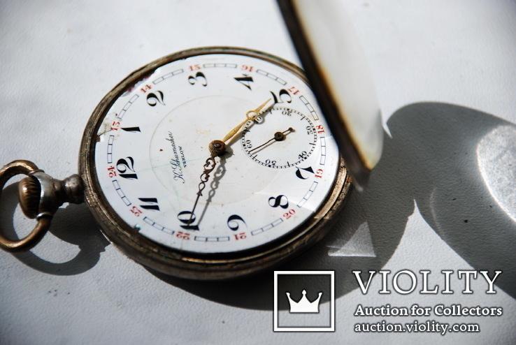 Старинные карманные  часы  ( серебро 800)