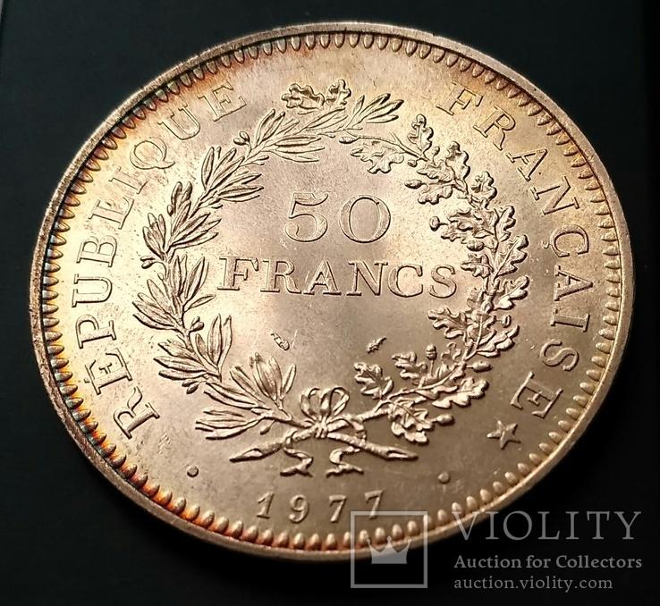 50 франків 1977 р. Геркулес. aUNC, фото №3
