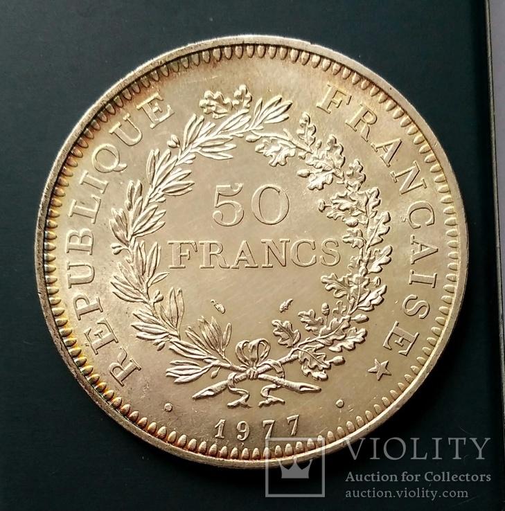 50 франків 1977 р. Геркулес. aUNC, фото №4