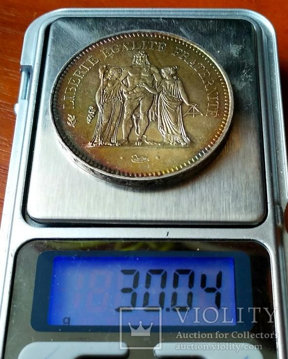 50 франків 1977 р. Геркулес. aUNC, фото №7