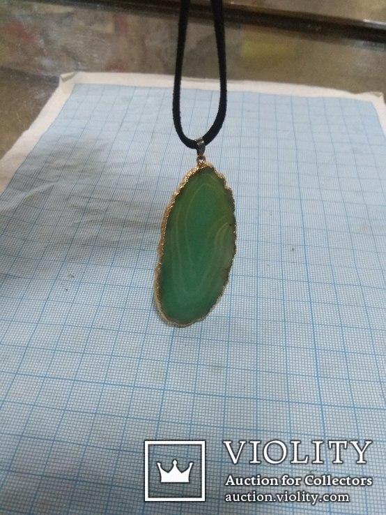 Кулон из зелёного агата, фото №4