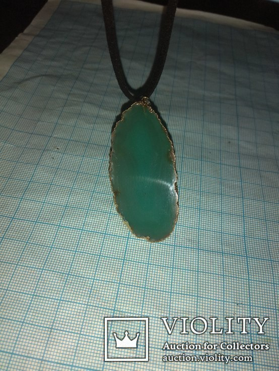 Кулон из зелёного агата, фото №5