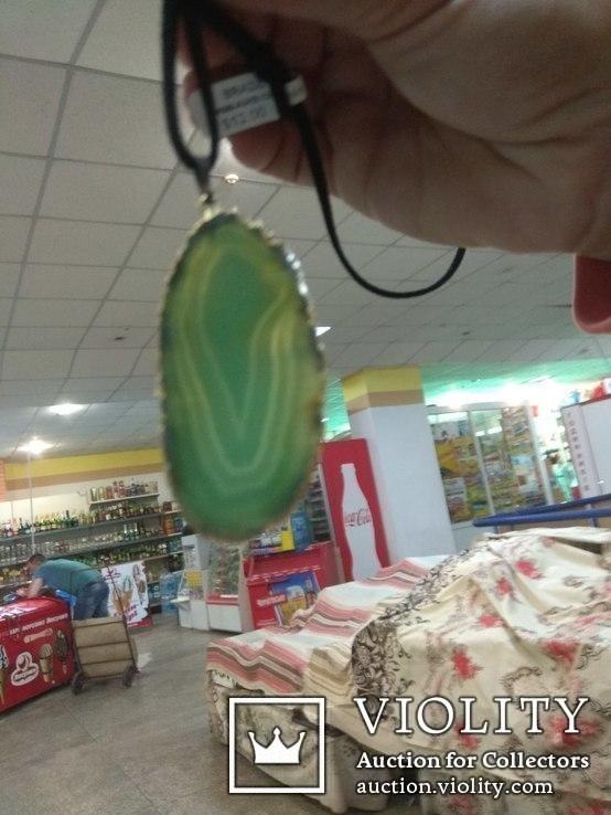 Кулон из зелёного агата, фото №7