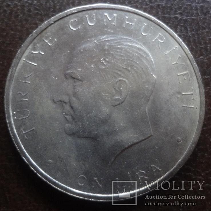 1  лира  1960  Турция  серебро 27 мая революция  (А.6.7)~, фото №3